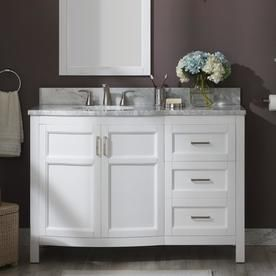 Allen Roth Moravia 48 In White Single Sink Bathroom Vanity With