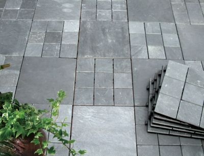 Courtyard Casual Natural Slate Deck Tile 6 Piece Set Reviews