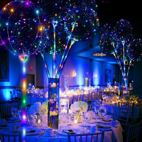 Our multi-color LED Light Up Lollipop Balloon is perfect for your party decorating needs! Our unique Light Up Lollipop Balloon can be used as table.