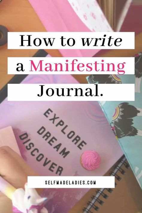 Manifesting goals by writing them down, with a manifesting journal, a great Law of Attraction tool. Journaling is a technique that can help you to manifest your dream life. Learn how to write a manifestation list, journaling to manifest money or journaling to manifest with the Law of Attraction whatever you want. How to write a manifestation journal as a daily personal growth habit, this manifesting tool can help you to reach all your goals! #manifesting #journaling #journal