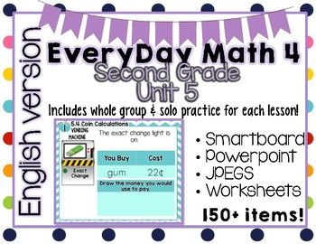 Do You Teach 2nd Grade Everyday Math Download This Lovely Zip File Which Includes Smartboard Lessons And Worksheets Tailo Everyday Math Math Powerpoint Math