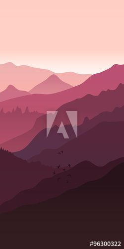 View Of Pink Purple Mountains Mountain Landscape Mountain Landscape Landscape Mountains