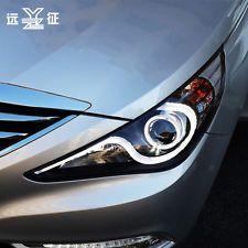 For Hyundai Sonata 2011 2012 2013 2014 LED Lightbar Headlight Projector Pair