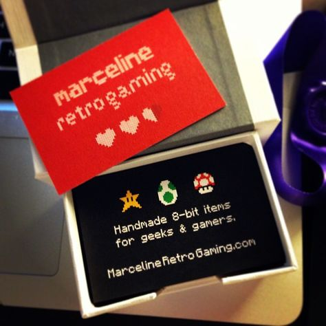 First Business Card For My Etsy Shop Marceline Retro Gaming Www