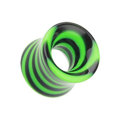 Green Basic Acrylic Double Flared Ear TunnelsSold as Pairs