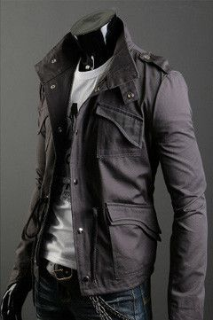 Men's Military Style Jacket | Military style jackets, Military ...