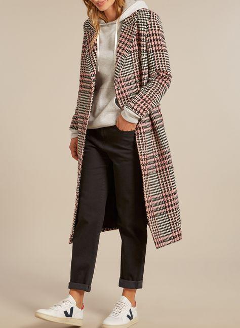Stylish Milan Boyfriend Coat in Multi.