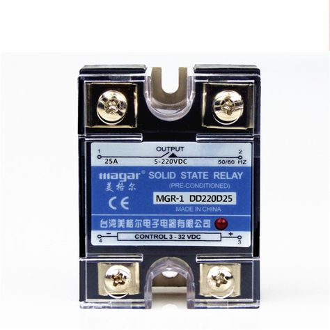 Mager SSR 25A 24V DC-DC Solid State Relay MGR-1 DD220D25