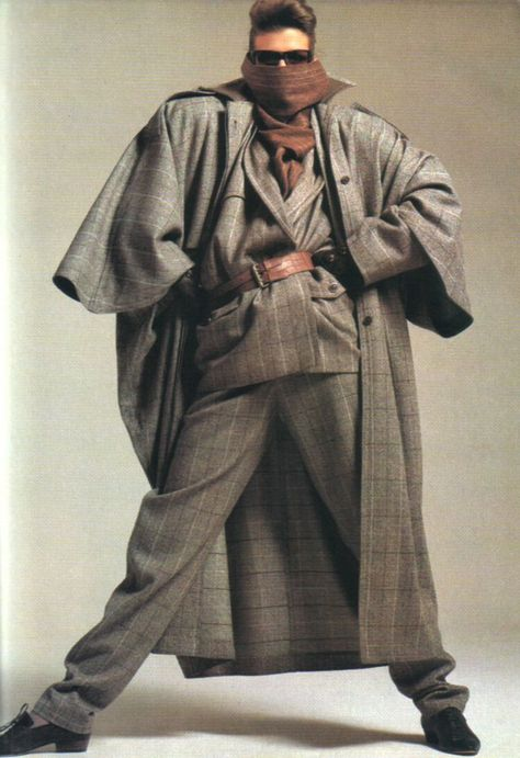 Best 80's Fashion Look : Gianni Versace, Harper's Bazaar, August 1984.
