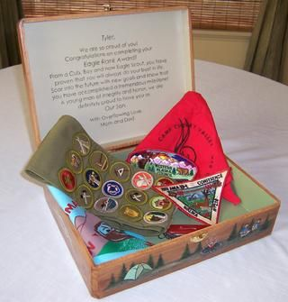 Image detail for -Eagle Scout Box - For cherished mementos. the Scout handbook, merit .I like this, but cannot read the inside lid