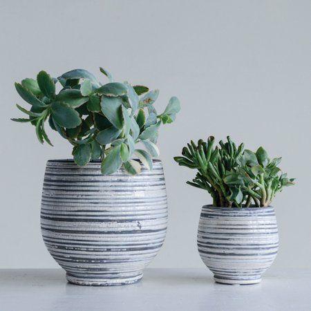 Patio Garden 3r Studios Gray Planter Grey And White