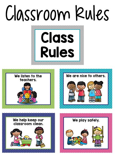 Pre-K Classroom Rules Back to School Classroom Rules, Classroom