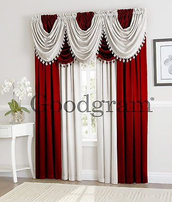 Hyatt Window Curtain Draperies Valances By Goodgram Assorted Colors Luxury Window Curtains Curtains Valance