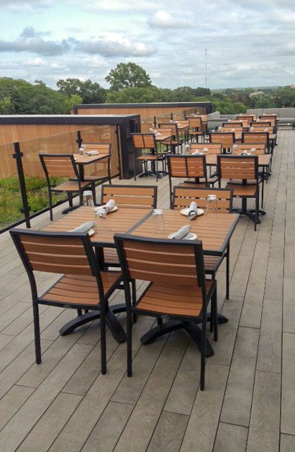 Our Atlantic Outdoor Furniture Collection On A Rooftop Bar