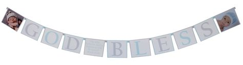 "Beautiful Baptism Banner with photos and verse from Mark 16:16 ( ""He who is baptized and believes will be saved"") in center.  Available in choice of colors. http://www.settocelebrate.com/custom-baptism-banner-photos.html"