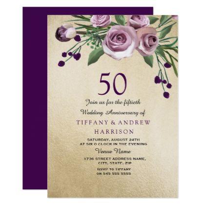 Rose Gold 50th Wedding Anniversary
