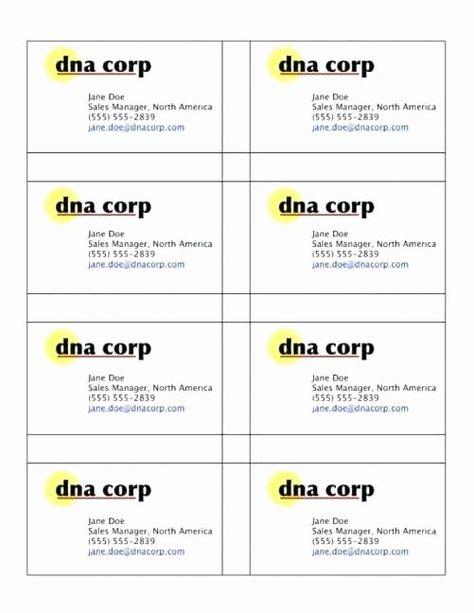 Business Card Sheet Template Elegant Business Card Template 10 Per Sheet 8 Templa Avery Business Cards Business Card Template Word Free Business Card Templates