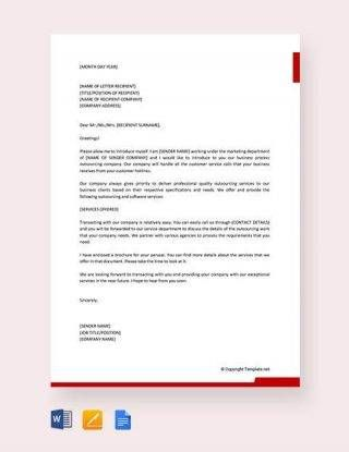 Business Introduction Letter To New Clients Professional