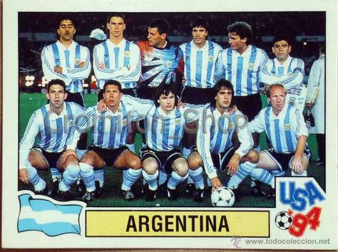 ebb4dc5adc70c6 Argentina team group for the 1994 World Cup Finals.