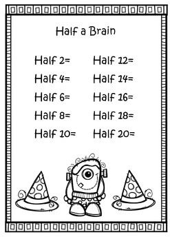Double And Halves Numbers Worksheets Math Doubles 2nd Grade Worksheets 1st Grade Math Worksheets