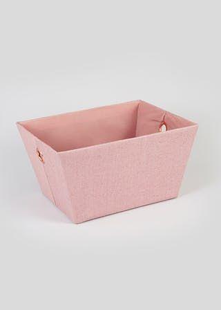 Fabric Storage Tray 36cm X 25cm X 18cm Pink In 2020 Fabric Storage Boxes Fabric Storage Bedroom Accessories