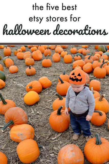 The Five Best Etsy Stores For Not Too Spooky Halloween Decorations