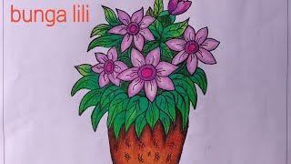 27 Gambar Bunga Dengan Warna Crayon Cara Mudah Menggambar Bunga Mawar Merah Gradasi Warna Oil Download Gambar Menanam Gambar Bunga Bunga Menggambar Bunga