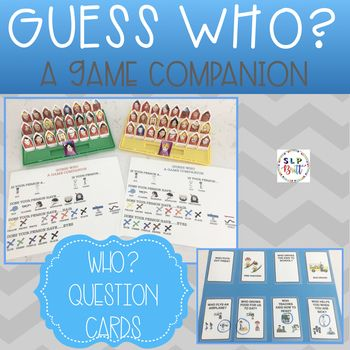 Includes 2 Guess Who Game Companion Mats 1 For Each Player Team Who Question Cards 2 Question Cards Speech Therapy Games Speech Language Therapy