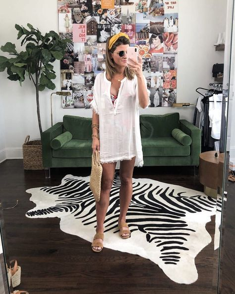 Vacation Outfits white coverup with floral swimsuit #summerstyle #ootd    Source by brightonkeller #Beach #BrightonTheDay #DaytoNight #Summer vacation outfits #Vacation