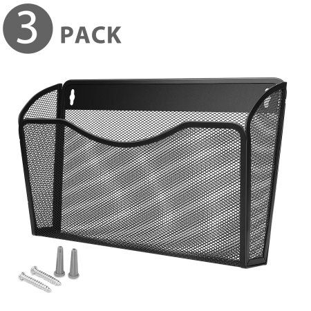 Wall Mail Organizer Paper File Letter Size Pocket Holder Metal Mesh Hanging Storage Basket Rack Single Sl Mail Organizer Wall Paper Organization Mail Organizer