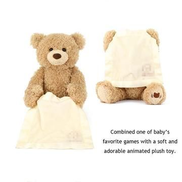 30cm Interactive UK Peek Soft Toy Doll Boo A Kids Birthday Gift Teddy Bear Plush