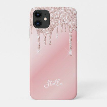 Pink Ombre Glitter iPhone 11 case