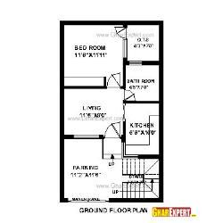House Plans For 20 X 35 Feet East Face Plot Gharexpert Com Town House Plans House Map My House Plans