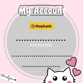Koleksi Template Akaun Bank Versi Cute Dan Bunga Bunga Design Template Thank You Card Design Banner Template Design