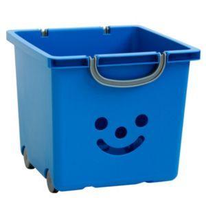 Children S Smiley Blue 30 6l Plastic Stackable Storage Box Stackable Storage Boxes Plastic Box Storage Plastic Storage