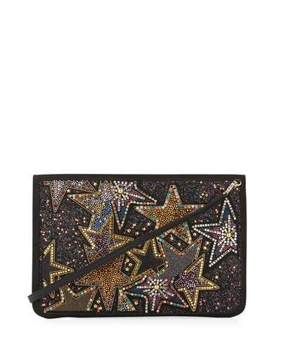 f0e5980d0c4 Christian Louboutin Loubiclutch Star Beaded Clutch Bag | Products ...