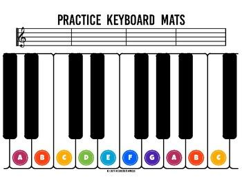 Practice Keyboard Mats Printable Piano Keyboard Sheets For Music