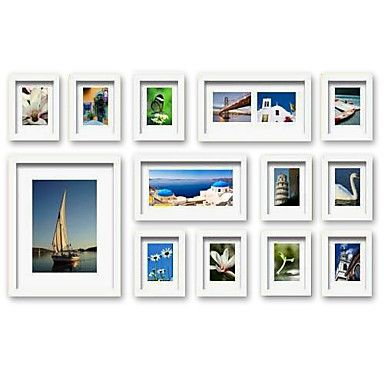 photo wall frame collection set of 8 fz 08 photo wall cheap picture frames and picture frames online - White Picture Frame Set
