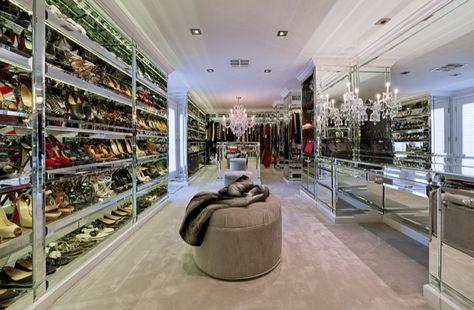celebrity closets   Unique and Celebrity Walk in Closets - Decoholic