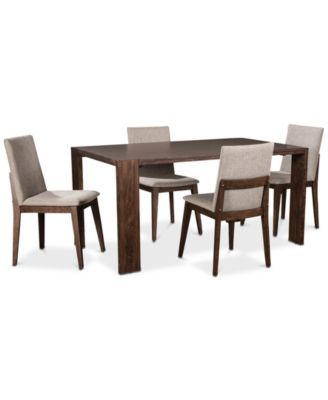 Crosby Dining Furniture 5 Pc Set Table 4 Upholstered Side