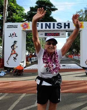 Want to know how a 92 year-old woman can run a marathon?!  I think this is AMAZING!