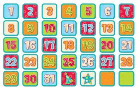 graphic about Printable Calendar Numbers identify Graphic outcome for printable calendar quantities for preschool