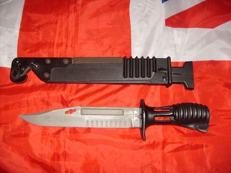 Sa80 Bayonet And Scabbard Bayonet Pocket Knife Body Armor
