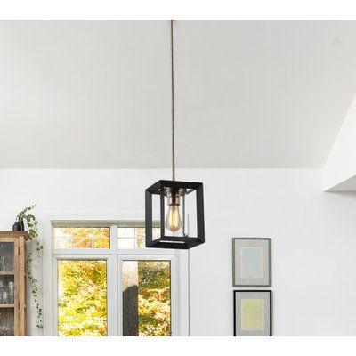 Brayden Studio Hicks 1 Light Single Square Pendant Lantern