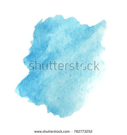 Watercolor Blue Background Water Vector Splash Color Stain