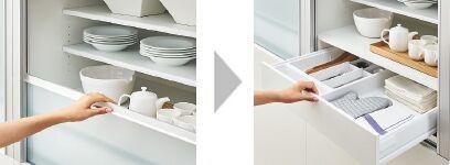 Lixil キッチン リシェルsi キッチンパーツ 収納ユニット カップボード 家電収納 2020 収納 ユニット リシェルsi 家電収納