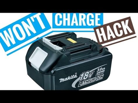 Repair Makita Bl1830 Battery By Making One Good From Two Bad Youtube Car Battery Hacks Fun To Be One Battery Hacks
