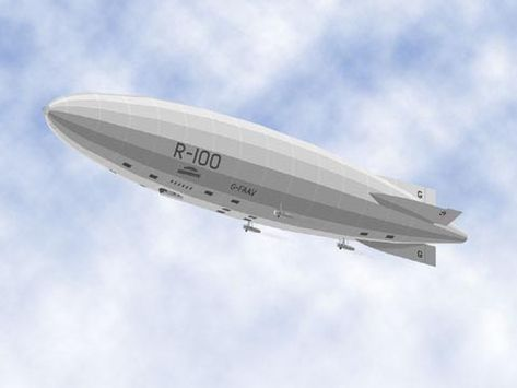 Paper model of British Airship 1:700 scale (about 12-inches long)