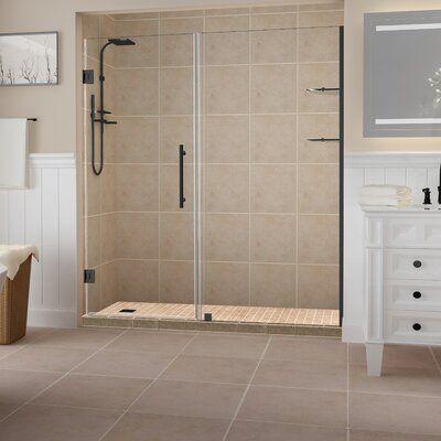 34 W X 58 H Frameless Tub Door Tub Doors Bathtub Doors Small Bathroom Remodel
