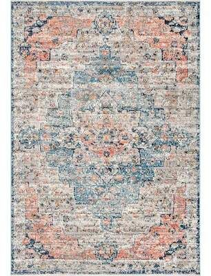 World Menagerie Lorentz Blue Tan Area Rug In 2019 Products Tan